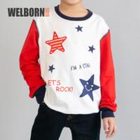 Welborn Kids Sweater Let's Rock Merah Putih Anak Laki