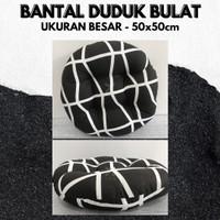 Black Line, Bantal Duduk Bulat Kualitas Premium Uk 50cm Big Size