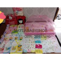 Paket perlengkapan bayi baru lahir + kelambu - baby boy