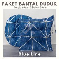 Paket Bantal Duduk Blue Line, Bantal Duduk Kotak & Bulat Premium