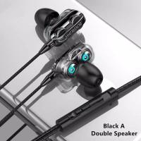 earphone gaming music sport super bass in-ear dual driver headset