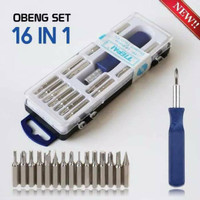 Obeng Set Multi 16 in 1 Screwdriver Handphone Elektronik ISI (16 PCS)