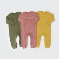 Sleepsuit Bayi / Jumpsuit Anak / I am Cotton Long Romper Rib
