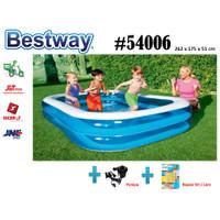 Bestway 54006 Kolam Renang Anak [262 x175 x51cm]Kolam+ pompa elektrik