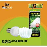 Exoterra Reptile UVB 100 25 w / Exo Terra Lampu UVB Reptil 25 Watt
