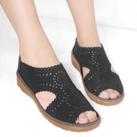 Sepatu Sandal Wanita Berkualitas Kickers Flat Soes Bm14