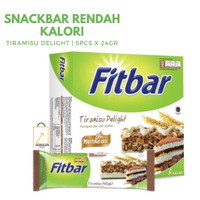 FITBAR Multigrain Tiramisu Delight Snack Sehat Diet - 5pcs x 22gr