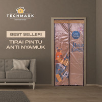 Tirai Pintu Kamar Anti Nyamuk Lalat Magnet Premium