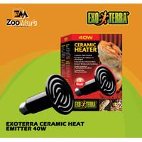 Exoterra Ceramic Heat Emitter 40w / Exo Terra Lampu Penghangat Reptil