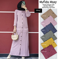 maxy dress wanita mufida rajut simple santai daily wear terbaru modern
