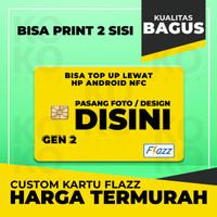 Custom Kartu FLAZZ BCA 2 sisi Bisa Cetak Foto / Gambar Bebas Gen 2