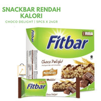 FITBAR Chocolate Choco Delight Snack Diet Sehat - 5pcs x 22gr