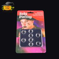 BDPC 8 pcs fake body clip piercing earing anting tindik hidung mulut