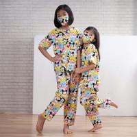 Baju tidur piyama anak karakter TSUM TSUM 8 10 12 th free masker