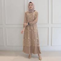 Baju Muslim Salma Dress Kondangan Gamis Maxi Import