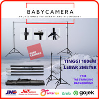 background stand untuk Backdrop Tiang Stand Background Foto Studio