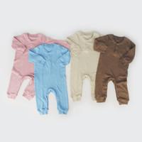 Sleepsuit Bayi / Piyama Anak / - I am Cotton Long Romper Rib Baru