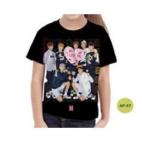Baju Anak Perempuan BTS Series 3D Kaos Anak Murah #AP-57