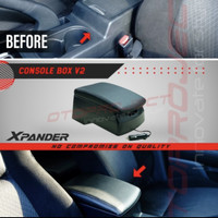 Console Box arm rest V2 Xpander/Livina with usb charging black / beige