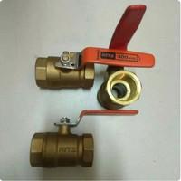 Ball valve KITZ 1 1/2 ( 100% ORIGINAL ) Stop Kran Kuningan 400 W.O.G