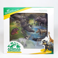 Figure Hewan Liar Mainan Hewan Liar Safari Animal Kingdom Set 6 Pcs