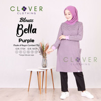 BAJU ATASAN Blouse Kaos Wanita Lengan Panjang Muslimah Bella Clv