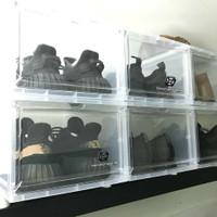 Kotak Sepatu Transparan Front Drop [GRATIS BUBBLEWRAP] - Standard Type