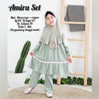 Setelan Anak Baju Anak Perempuan 7-8 Tahun Baju Muslim AMIRA SET KIDS