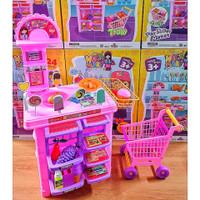 Mainan Supermarket Trolley Megamart Besar / Kasir Kasiran Troli AnaK