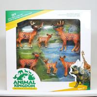 Mainan Animal Rusa Set 6 Pcs Hewan Liar Rusa Animal Kingdom