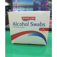 Tissue Alkohol GOLDEN CARE Murah Alcohol pads 70% ETHYL ALCOHOL Tissue