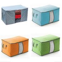 Storage Box 65 liters bamboo charcoal clothing boxes 3 layer / MURAH - Hijau