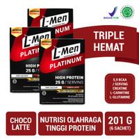 Triple Pack: L-Men Platinum Choco Latte Box (6 Sch)