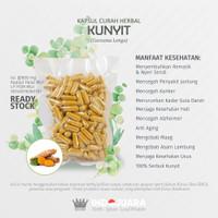 KUNYIT 100 Kapsul Curah Herbal Asam Lambung Jerawat Maag Anti Aging