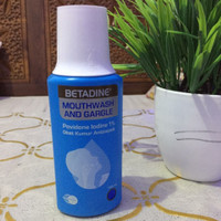betadine mouthwash and gargle 190 ml ( obat kumur )
