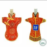 Sarung baju Botol Wine Imlek Cheongsam sangjit CNY Bottle family toys