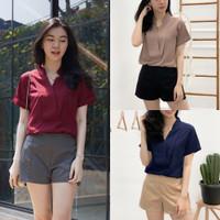 Baju Blouse Atasan Wanita Lengan Pendek Korean Style Kekinian 8FA-0667