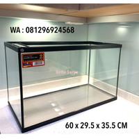 Link Khusus Luar Kota Aquarium Kaca Nikita 60 x 29.5 x 35.5 cm