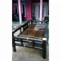 kursi bale bambu hitam L 100 X 200