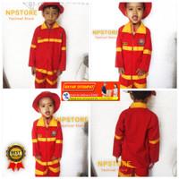 Baju Seragam Kostum Profesi Pemadam kebakaran Damkar Anak
