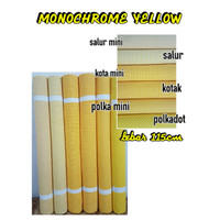 Bahan Kain Katun Reaktif Reactive Monokrom Yellow Kuning murah meteran