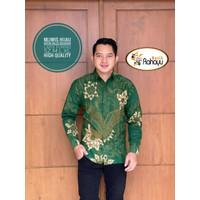 Mliwis Hijau Kemeja Batik Pria Lengan Panjang Atasan Batik By Rahayu