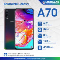 SAMSUNG GALAXY A70 SM -A705 8/128GB 6,7 INCH GARANSI RESMI