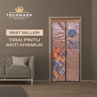 Tirai Pintu Kamar Anti Nyamuk Lalat Magnet Premium Velcro