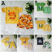SALE Baju Setelan Kaos Anak Bayi Baby Laki Laki Cowok Murah 3-9 Bulan