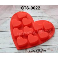 CTS-0022 Cetakan silikon coklat puding love hati cinta valentine heart