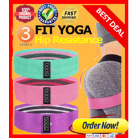 Hip Resistance Band 3 IN 1 SET - Hip Band Squat Band - Booty Band