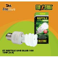 Exoterra Reptile UVB 100 13 w / Exo Terra Lampu UVB Reptil 13 Watt