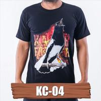 Kaos burung kacer KC-04 baju kaos kacer mania kaos gambar burung kacer