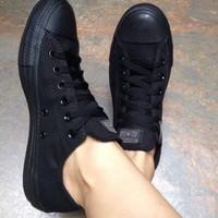 Sepatu Ukuran 47 Jumbo sneakers ukuran 47 pria Converse full black